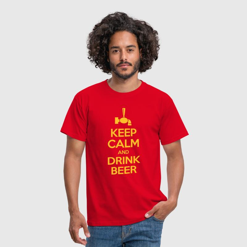 Keep calm and drink beer - T-shirt Homme
