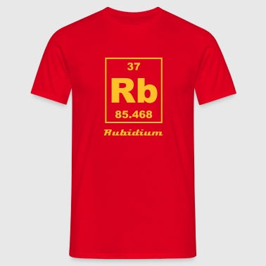 Element 37 - Rb (rubidium) - Small - Camiseta hombre