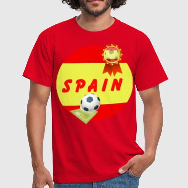 Football Pitch Spain Football Team Supporter Rosette Ball & Pitch - Men's T-Shirt