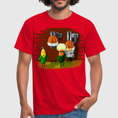 PopCorn-Barber - Men's T-Shirt