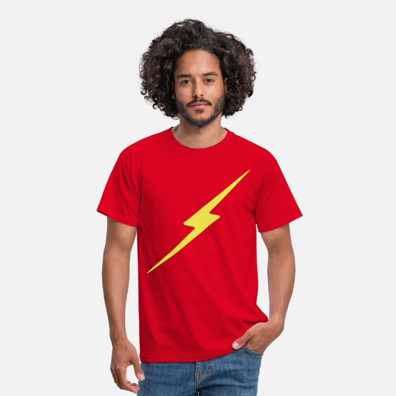 Forme T-shirts - Eclair - T-shirt Homme rouge