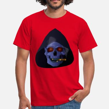 Mort Aux Cons Smoking Skull - T-shirt Homme