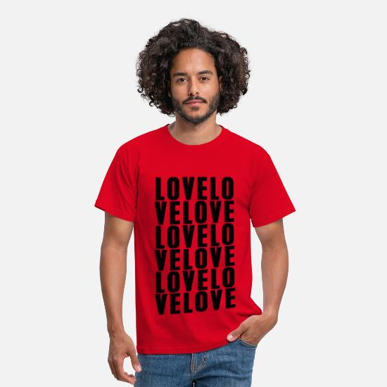 Cool T-Shirts - Love LOVE love - Men's T-Shirt red