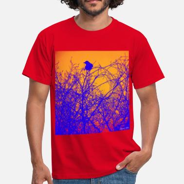 bird tree - Mannen T-shirt