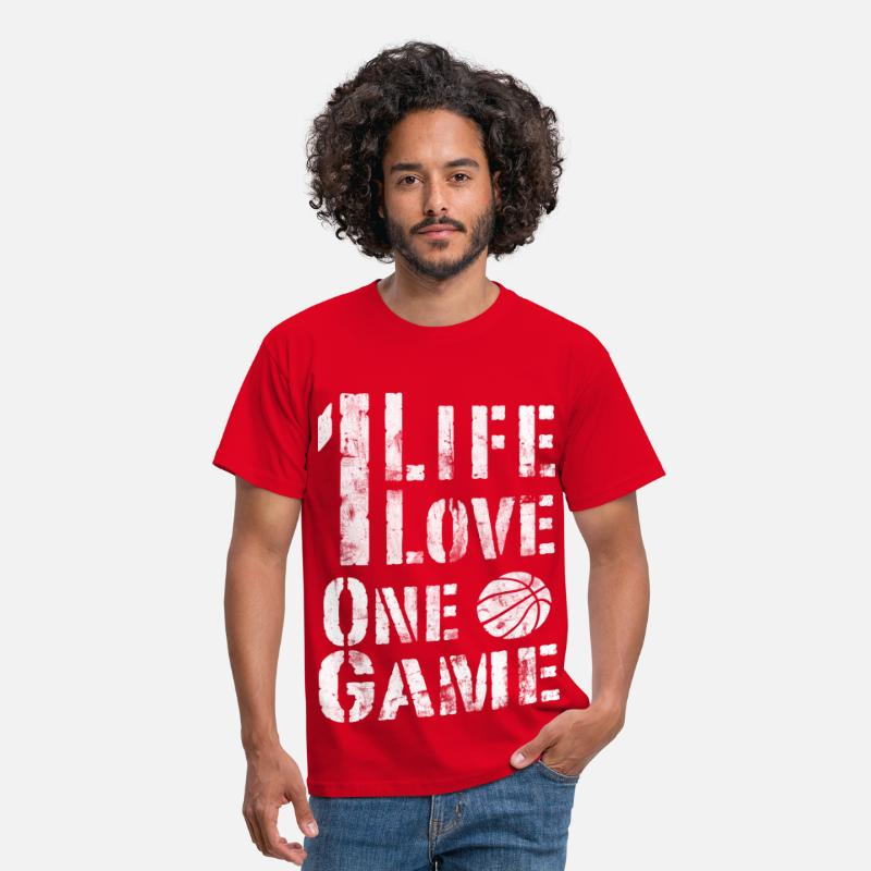Panier T-shirts - Basket - T-shirt Homme rouge