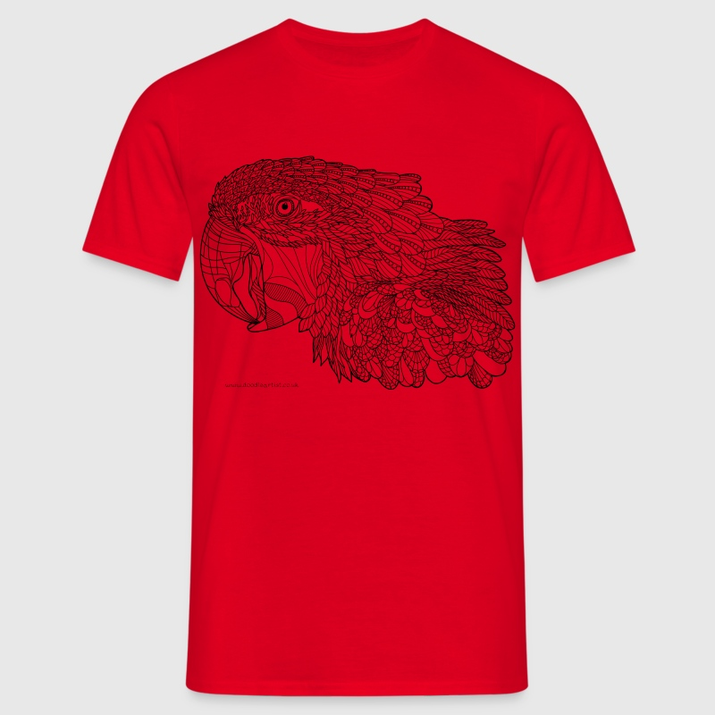 Macaw - black lines - Men's T-Shirt