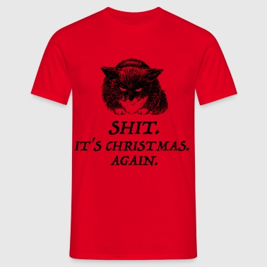 bad cat christmas - T-shirt Homme