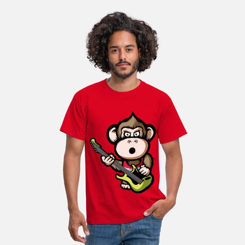 Ape T-Shirts - Ape Guitar - Men's T-Shirt red