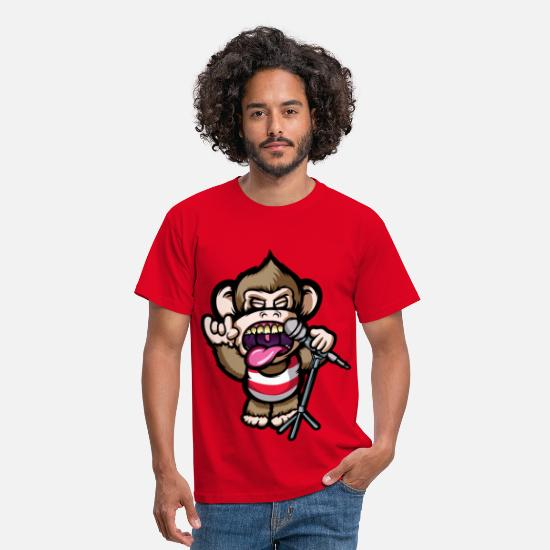 Cool T-Shirts - Ape Mic - Men's T-Shirt red