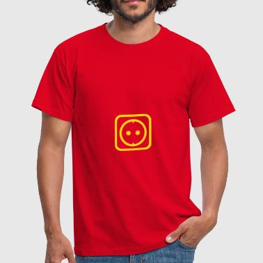 Outlet Socket or outlet with energy and power - Herre-T-shirt