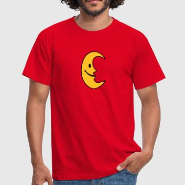 Visage Smiley Lune - T-shirt Homme