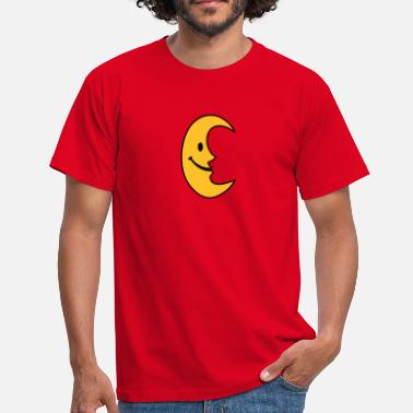 Figur smiley månen - Herre-T-shirt