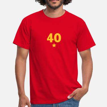 Vierzig 40 mit Stern / 40 with star(1c) - Men's T-Shirt