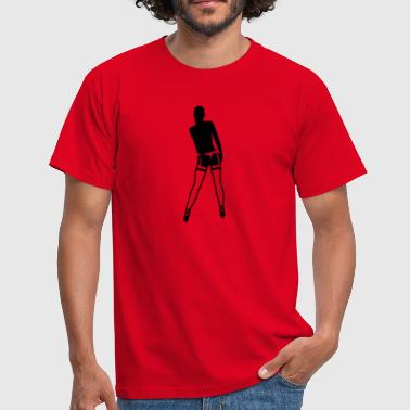 Girl in Strapse - Männer T-Shirt