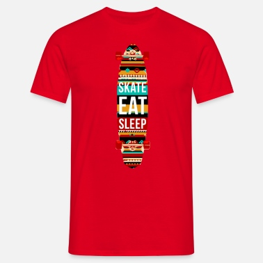 Born To Skate Eat Sleep Skate Repeat Skaters T-shirt - Men's T-Shirt