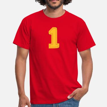 College number one patch - Men's T-Shirt