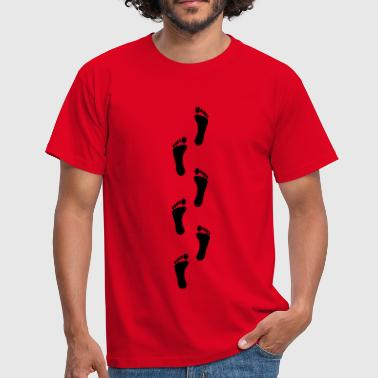 footprints, footprint - Men's T-Shirt