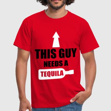This Guy Needs A Tequila - T-shirt herr