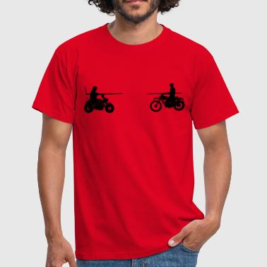 Bud Bud vs. Terence on Bike - Men's T-Shirt