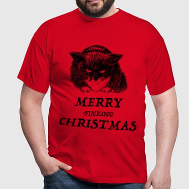 bad cat merry christmas - T-shirt Homme