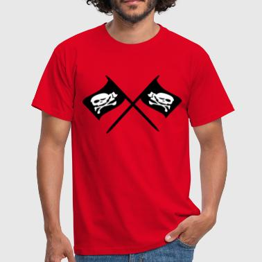 Piratenflagge Totenkopf piratenflagge - Männer T-Shirt
