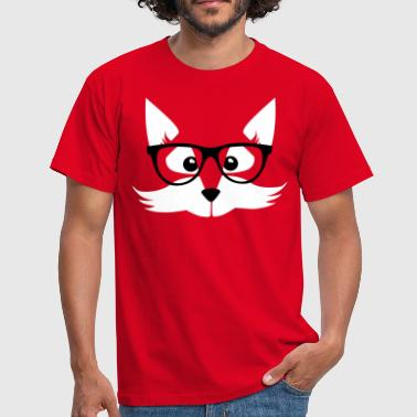 fox nerd - nerd with glasses - Fox forest geek-child - Men's T-Shirt