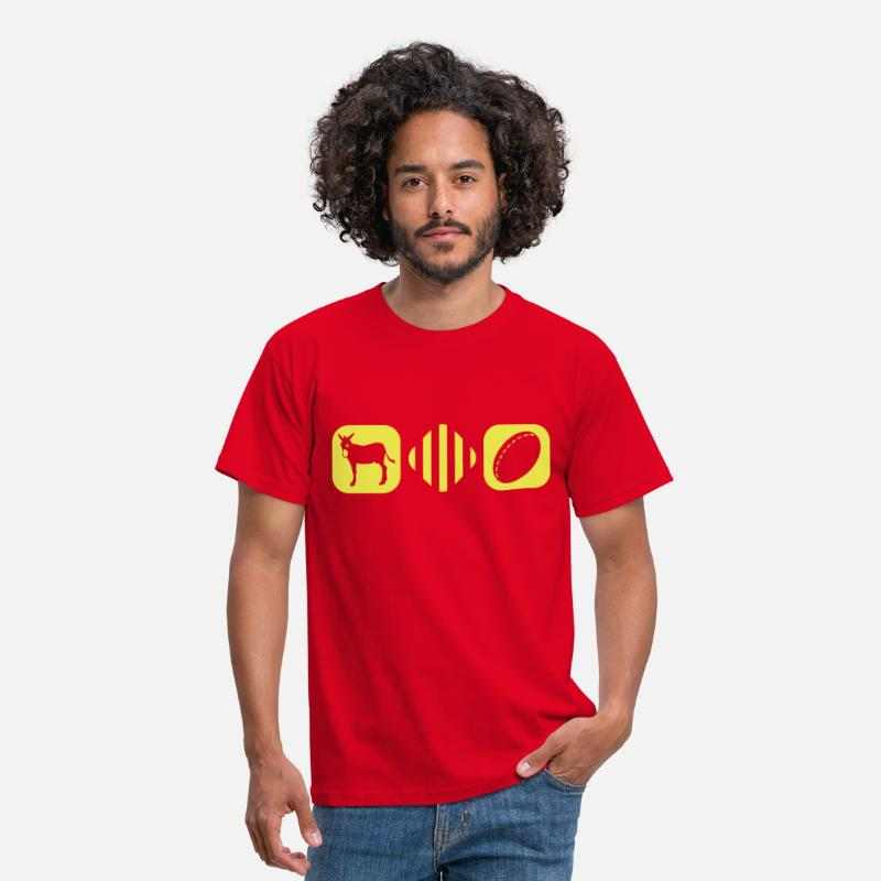 Catalan T-shirts - Catala boxes rugby - T-shirt Homme rouge