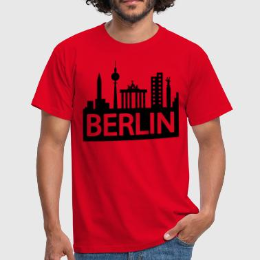 Berlin skyline - Mannen T-shirt