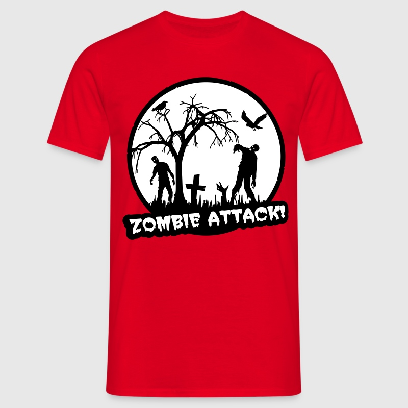 Zombie Attack - Halloween - Men's T-Shirt