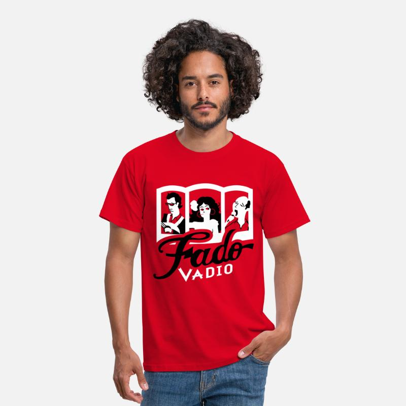 Portugal T-shirts - Fado Vadio - T-shirt Homme rouge