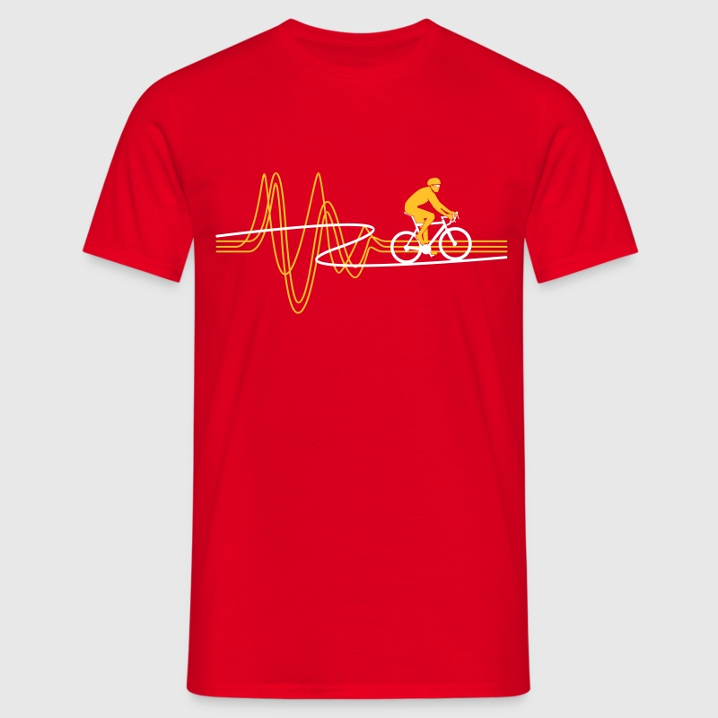 Road Bike Heartbeat - Men's T-Shirt