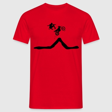 Enduro jump with descent of the driver  - Men's T-Shirt