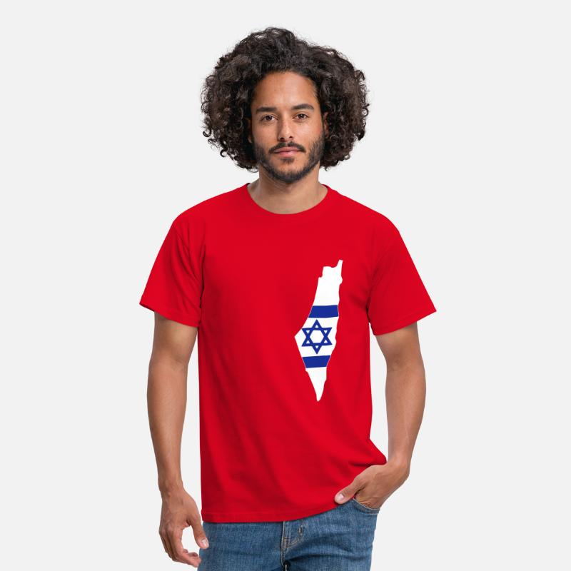 Zion T-shirts - Israel - T-shirt Homme rouge