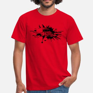Spray Can drop blob color graffiti spray truck truck load - Men's T-Shirt