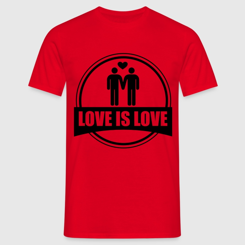 LOVE IS LOVE GAY - T-shirt Homme