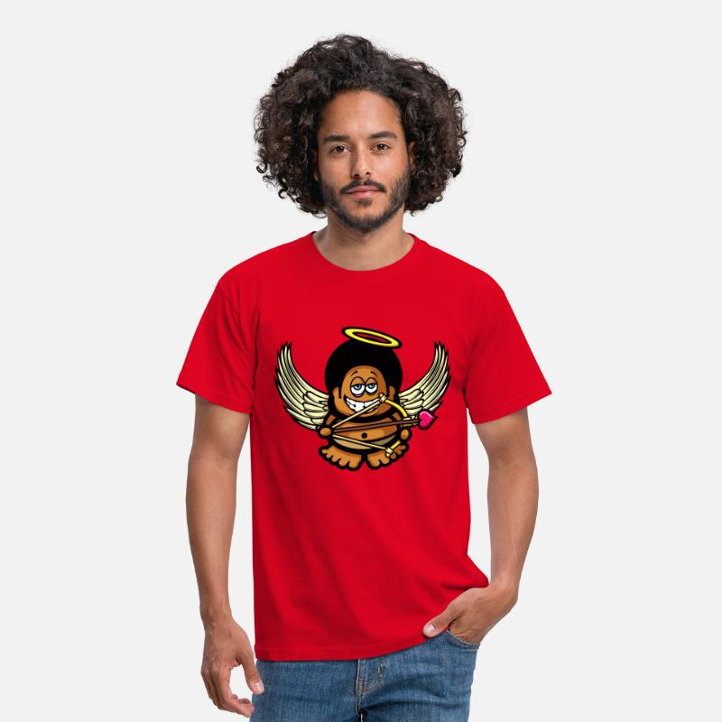 70s T-Shirts - Funky Cupid - Men's T-Shirt red