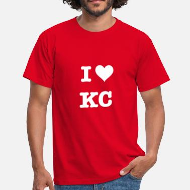 Kansas City Chiefs Ich liebe Kansas City Football Fan Motiv - Männer T-Shirt