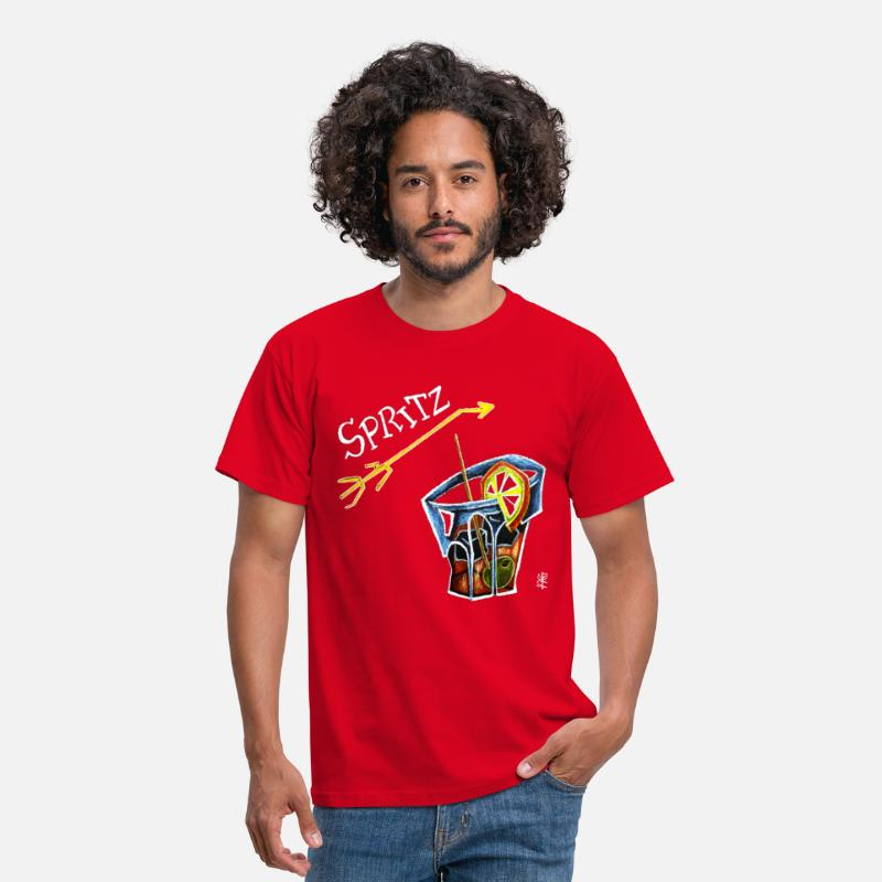 Bitter T-Shirts - Spritz Aperol Party T-shirts Venice Italy - Energy Drink - Men's T-Shirt red
