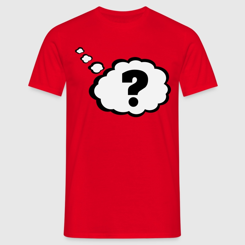 Question mark in Thought Bubble  - Men's T-Shirt