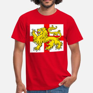 Cross Of St George English Lion Passant on the St George's Cross - Men's T-Shirt