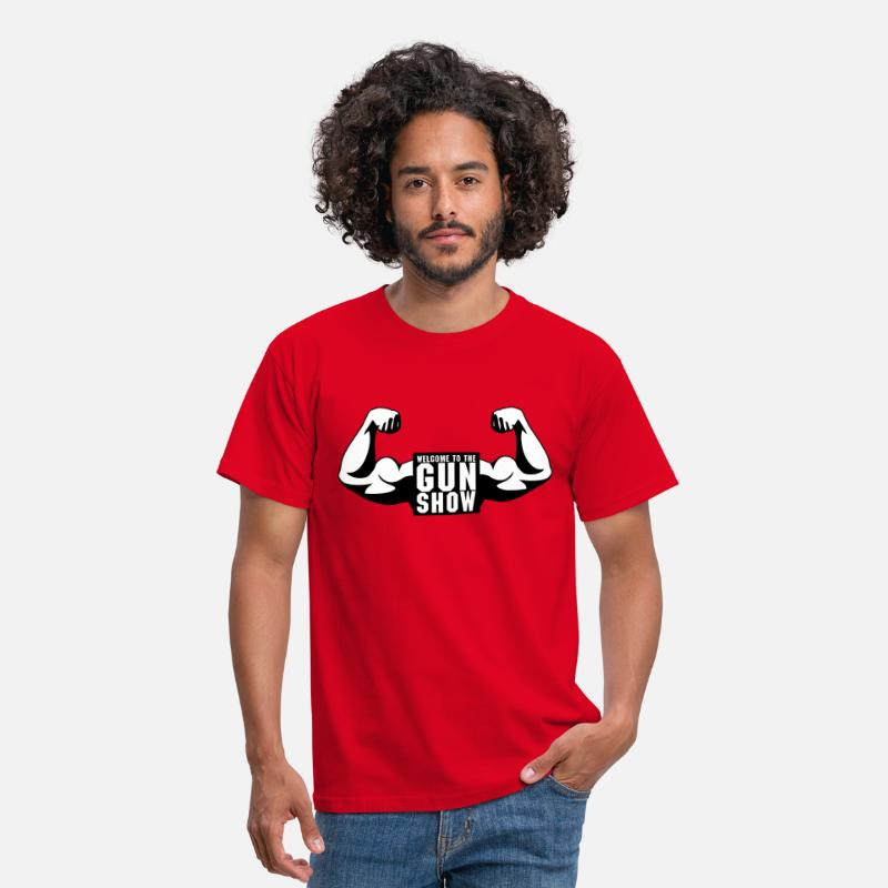 Body Building T-Shirts - Welcome To The Gun Show - Men's T-Shirt red