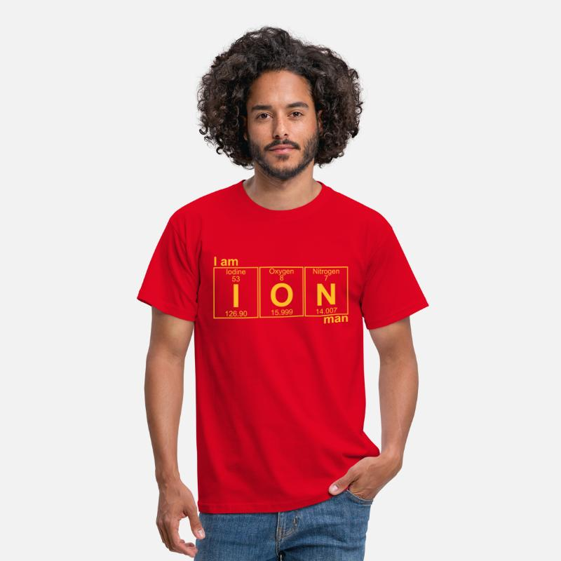 Geek T-shirts - I-O-N (ion) - Full - T-shirt Homme rouge