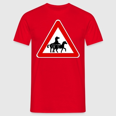 Attention Horse Transport  - Herre-T-shirt