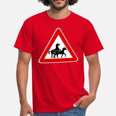 Horse Sex Attention Horse Transport  - Men's T-Shirt