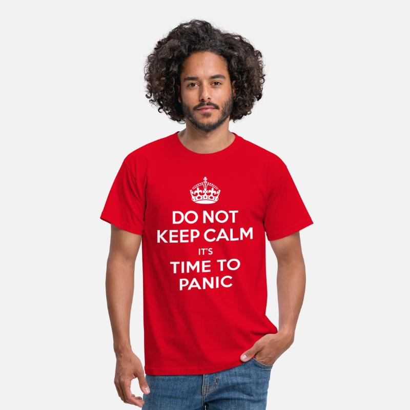 Brexit T-Shirts - Do not keep calm - Men's T-Shirt red
