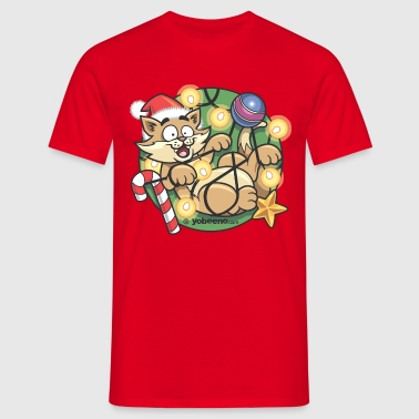 Christmas Cat - Men's T-Shirt