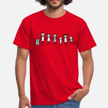 Stick Family Family Patchwork Family - V2 - Men's T-Shirt