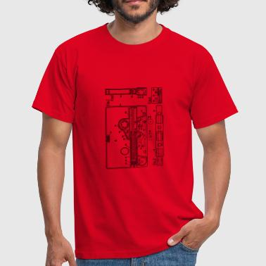 Blueprint of a cassette - Vintage Music Design - Men's T-Shirt