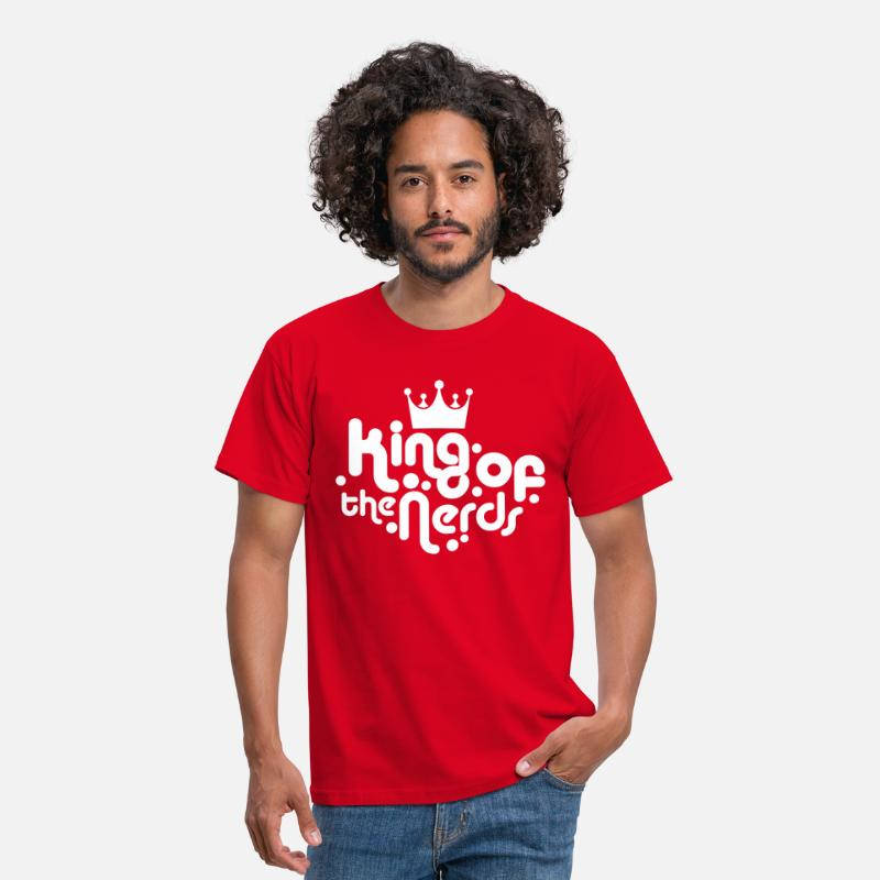 Nerd T-Shirts - king of the nerds - Mannen T-shirt rood