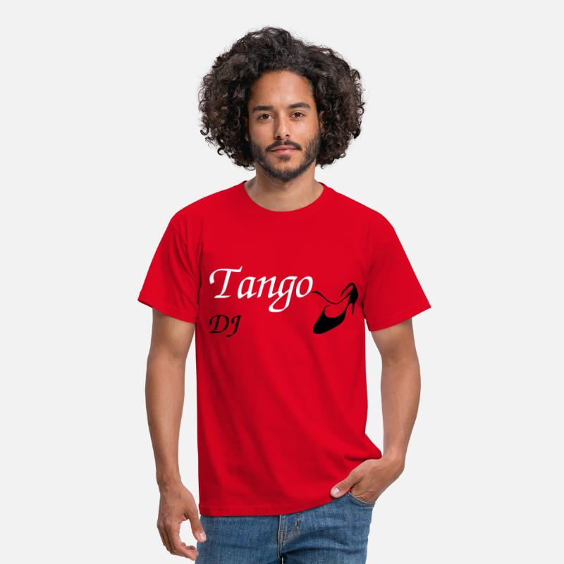 Italy T-Shirts - Argentine Tango - Women Dance Shoes - Design - Men's T-Shirt red